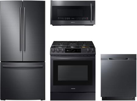 4-Piece Black Stainless Steel Kitchen Package with 30