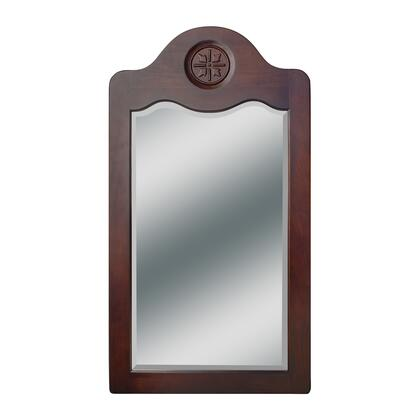 2500-0038-1005 Nicole Collection 24 inch  Wall Mirror With Solid Hardwood Frame Mirror  Removable Finished Plywood Back  High Quality 1 inch  Bevel And Water Resistant