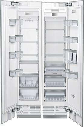 42 inch  Side-by-Side Refrigerator with T23IR900SP  23.5 inch  13 cu. ft. Capacity Refrigerator Column and  T18IF900SP 18 inch  8.6 cu. ft. Capacity Freezer