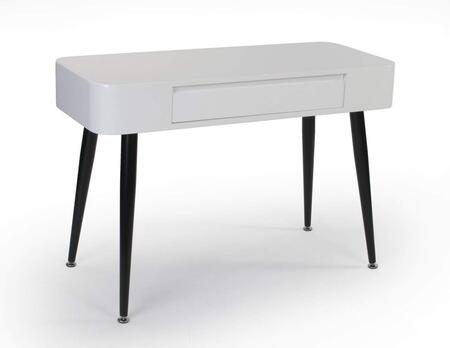 "Edge Collection 124904 40"" Console/Desk with 1 Wide Drawer and Tall Tapered Legs in Black and"