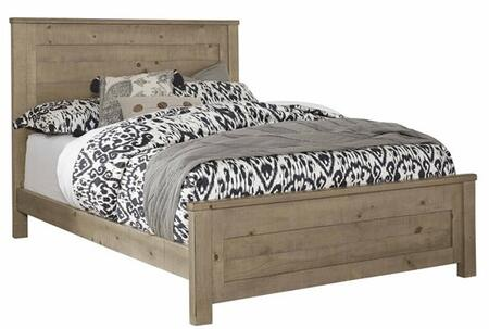 Wheaton B623-34-35-78 Queen Panel Bed with Molding Details and Ponderosa Pine Construction in Natural