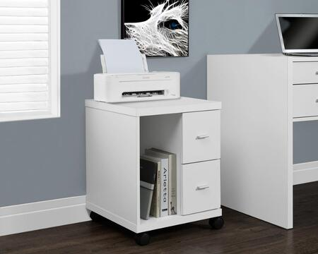 I 7055 Office Cabinet - White with 2 Drawers On
