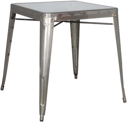 8029-DT-GUN Galvanized Steel Dining Table in Gun