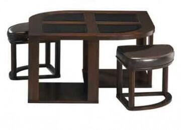 89140 Cocktail Table With Top Glass