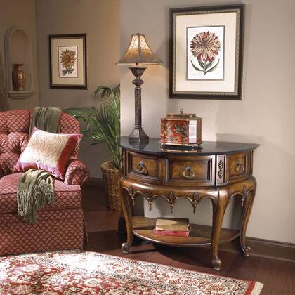 0247090 Heritage Collection Stone Top Demilune Console