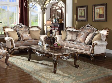 Sandro Collection 6032PCSTLKIT1 2-Piece Living Room Sets with Stationary Sofa  and Loveseat in Light