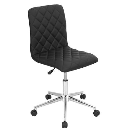 OC-TW-CAV BK Caviar Height Adjustable Contemporary Office Chair with Swivel in