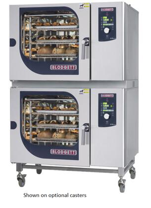 BCM6262E Double Stack Electric Boiler based Combination-Oven/Steamer with Dial and Digital controls  Reversible 9 speed fan  Up to 50 recipe programs with 10