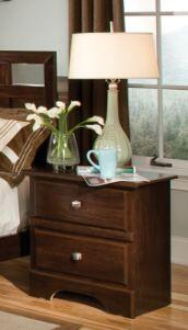 15202 Napa Valley 25 inch  Wide 2 Drawer Nightstand in Dark Wood