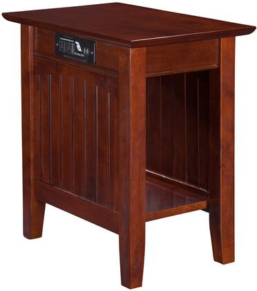 Ah13314 Nantucket Chair Side Table With Usb Charging Port  Electrical Outlet And Bottom Shelf In Antique