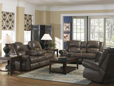 Livingston Collection 64505-1274-28/3074-28set 3 Pc Living Room Set With Power Reclining Sofa + Loveseat + Recliner In Smoke