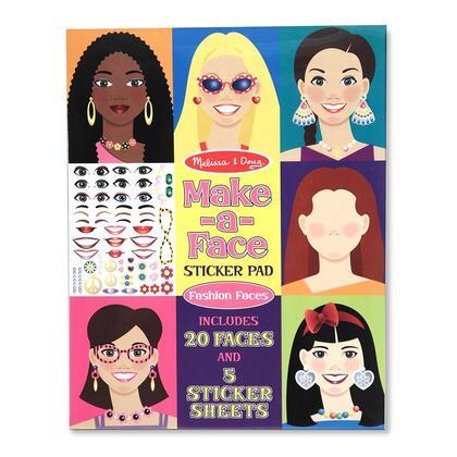4195 Make-A-Face Fashion Faces Sticker