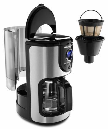 KCM111OB 12-Cup Coffee Maker with Variable Brew Strength Selector  Removable Water Tank  24 Hours Programmability  Digital LED Display and Clock  in Onyx