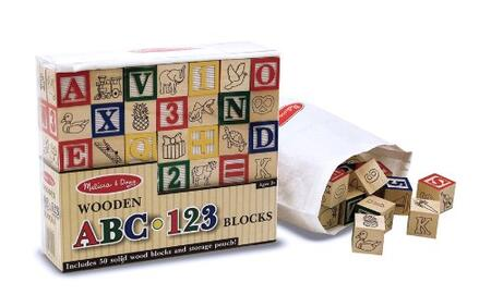 1900 Wooden A-B-C and 1-2-3