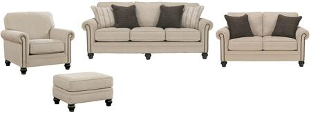 Milari Collection 13000slco 4-piece Living Room Set With Sofa  Loveseat  Living Room Chair And Ottoman In