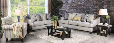 Wilkie SM8311-SFLVSC3PCK 6-Piece Living Room Set with Sofa  Loveseat  Chair  Coffee Table and 2 End Tables in Light Grey and