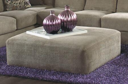 Malibu Collection 3239-28-2668-44 52 inch  Cocktail Ottoman with Chenille Fabric Upholstery and Piped Stitching in