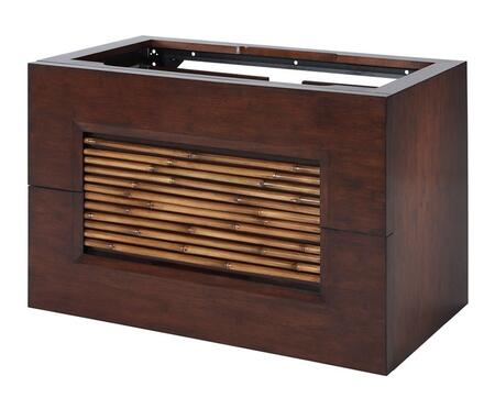 Bambu V-BAMBU-36DB 36 inch  Vanity with Natural Bamboo Accents and Two Large Storage Drawers in Dark