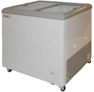 MXF31F Freezer with 7.5 cu. ft.  Recessed Sliding Door Handle  Aluminum Interior  White Exterior   Light  Temperature Display  Front Facing Drainage  Front