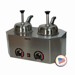 2029D 19.75 inch  Pro-Deluxe #10 Can Warmer-Dual Unit with Stainless Steel