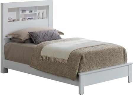 G2490B-TB2 Twin Bed with Storage Headboard  and Clean-Line Design in