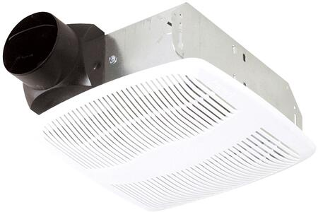 AS50 Exhaust Fan with 50 CFM  23 Gauge Galvanized Metal Housing  and Polymeric Grill  in
