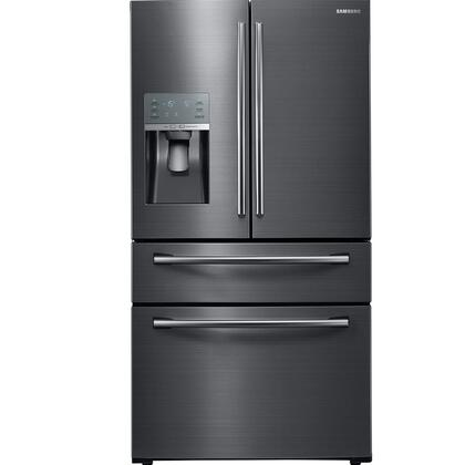 "RF28JBEDBSG 36"" Black Stainless Steel Series Energy Star Rated Food Showcase French Door Refrigerator with 27.8 cu. ft. Capacity  Metal Cooling  External Ice"