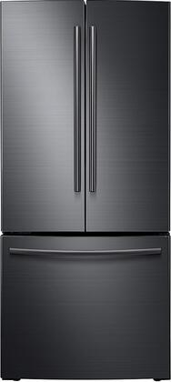 """RF220NCTASG 30"""" French Door Refrigerator with 21.8 cu. ft. Total Capacity  Wide Open Pantry  Tempered Glass Shelves  and High Efficiency LED: Black Stainless"""