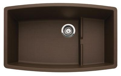440063 Performa Silgranit Cascade Super Single Bowl Kitchen Sink In Cafe