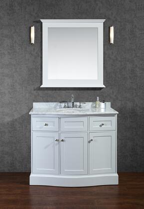 SC-MON-42-SWH Montauk 42 Single-Sink Bathroom Vanity Set with Quartz Top and Simple Pulls in