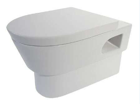 WD332 Modern Wall Mount Dual Flush Toilet with Porcelain  1.6 Gallon Full Tank Flush  Sleek Wall Mounted Look  Fully Glazed Inside & Out and The Soft Drop Seat