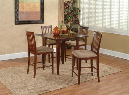 MONTREAL4278BTPTAW Montreal Collection 42x78 Butterfly Top Pub Height Dining Table (Includes 18