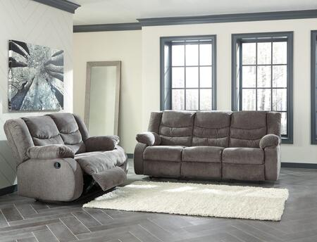 Tulen Collection 98606SL 2-Piece Living Room Set with Reclining Sofa and Loveseat in