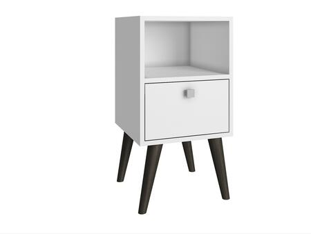 Abisko Collection 1AMC129 63 inch  1-Shelf Side Table with 1 Cubby  1 Drawer and Knob Design in