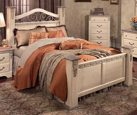4300Q San Miguel Queen Size Post Panel Bed in Washed Ash