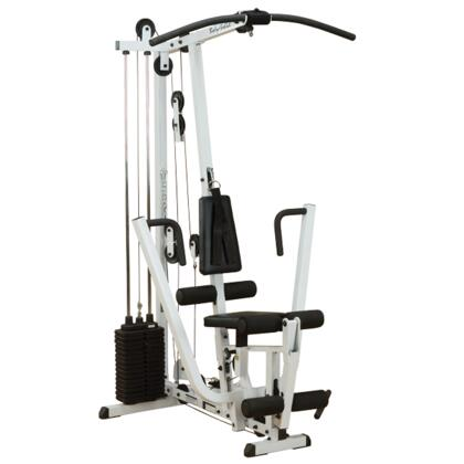 Body Solid EXM1500S Classic Series Selectorized Home Gym with Lat Bar  Straight Bar  and Utility