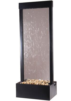 GF4BG Gardenfall Series 4' Floor Fountain With Clear Glass & Black Onyx
