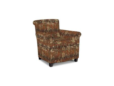 Roosevelt Collection 1148-02/BE97-7 31 inch  Accent Chair with Fabric Upholstery  Rolled Tight Back  Welted Sock Arms and Contemporary Style in Woven Tapestry