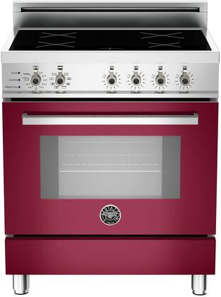 """PRO30VI 4 INS VI 30"""" Professional Series Induction Range with 3.6 cu. ft. European Convection Oven 4 Induction Heating Zones Self-Cleaning and Telescopic"""