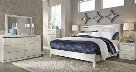 Dreamur King Bedroom Set With Panel Bed  Dresser  Mirror  Chest And 2 Nightstands In