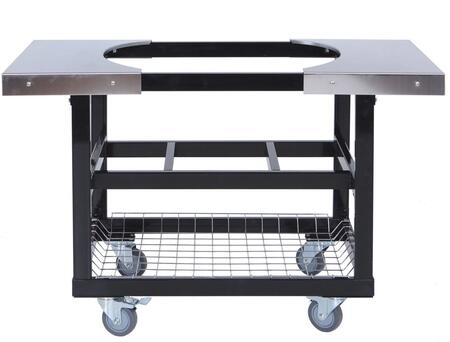 Primo Grills & Smokers 320-Cart with Stainless Steel Side Tables for Junior Oval