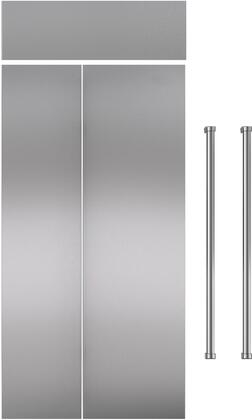 Stainless Steel Refrigerator Door Panel with Professional Handle for 36 Side-by-Side Refrigerator