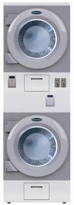 DAWS2EM 27 inch  ADA Compliant Stacked Electric Dryer Combination with 15 cu. ft. Total Capacity  50 RPM Tumbling Speed  220 CFM Airflow  Commercial Grade