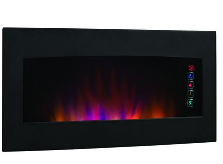 34HF600GRA Serendipity Wall Hanging Electric Fireplace with Touch Screen Function  Quiet SpectraFire Blue Flames and Multi-Function Remote Control in