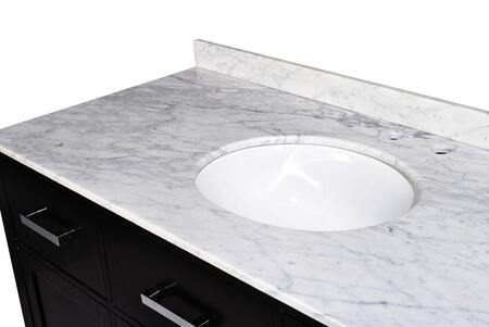 SM5D5-48-BLK Belmont Decor Hampton single sink vanity with Marble Top  Block Feet  and Simple Pulls in