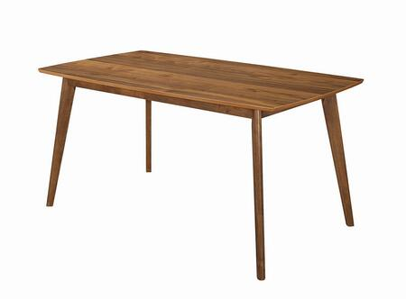 Sasha Collection 107251 63 Retro Dining Table with Rectangular Shape  Tapered Legs and Wood Construction in Walnut