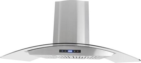COS-668AS900 36 inch  Wall Mount Range Hood with 760 CFM  3 Speed Push Button Control  2 LED Lights and Dishwasher Safe Stainless Steel Baffle Filter  in Stainless