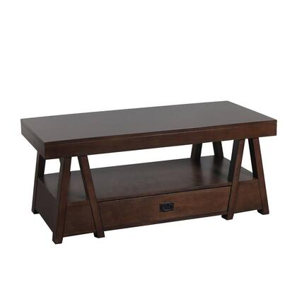 Lancaster Collection 14A8074CT 48″ Cocktail Table with One Drawer  Metal Pull and Bottom Shelf in