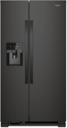 WRS555SIHB 36 inch  Side-by-Side Refrigerator with 25 cu. ft. Total Capacity  Pizza Pocket  LED Interior Lighting  Adaptive Defrost  Electronic Temperature Controls