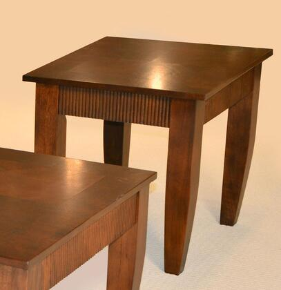 82950 Sutton Collection Wooden End Table In Chestnut